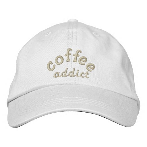 coffee  addict embroidered baseball hat