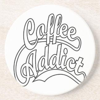 Coffee Addict in Black Coaster