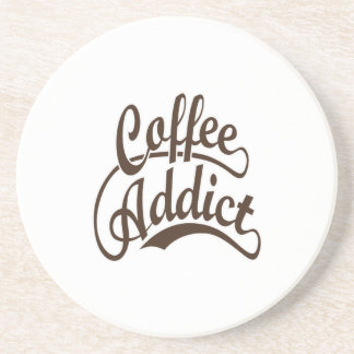 Coffee Addict in Brown Drink Coasters