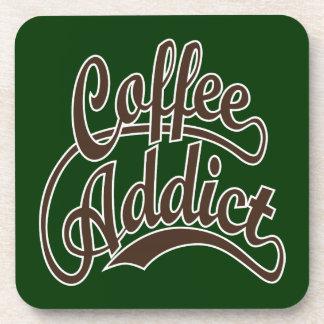 Coffee Addict in Brown Coaster