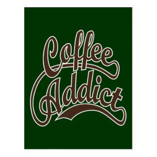 Coffee Addict in Brown Postcard