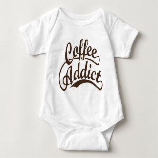 Coffee Addict in Brown T Shirt