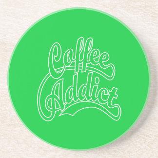 Coffee Addict in White Coaster
