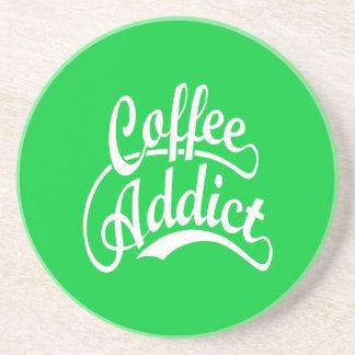 Coffee Addict in White Beverage Coaster