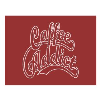 Coffee Addict in White Postcard