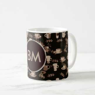 Coffee Addict Monogram Coffee Cup