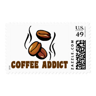 Coffee Addict Postage Stamps