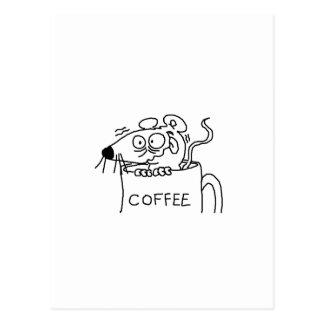 coffee addict postcard