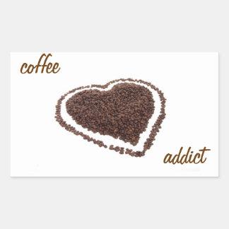 Coffee Addict Rectangular Sticker
