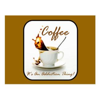 Coffee Addiction Postcard