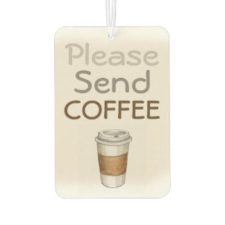Coffee Addict's Car Air Freshener