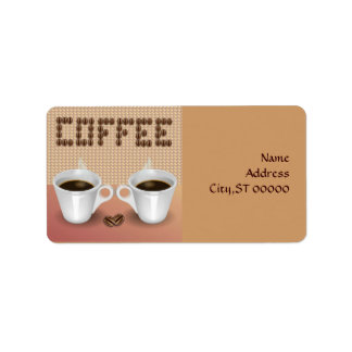 Coffee Address Label