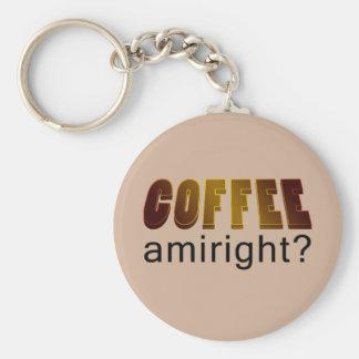 Coffee Amiright? Basic Round Button Keychain