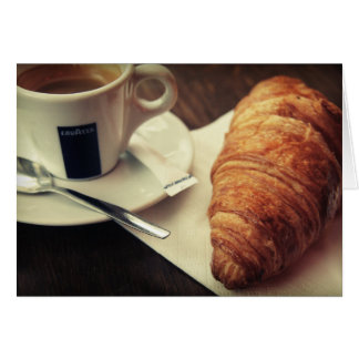 Coffee and a Croissant, please Card