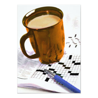 Coffee and a Crossword Puzzle Card