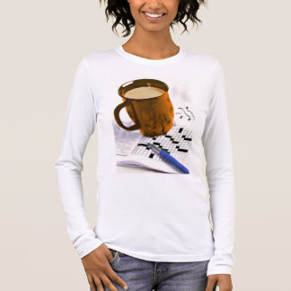 Coffee and a Crossword Puzzle Long Sleeve T-Shirt