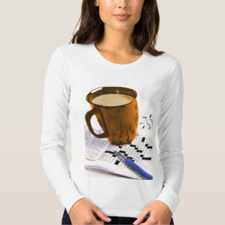 Coffee and a Crossword Puzzle T-Shirt