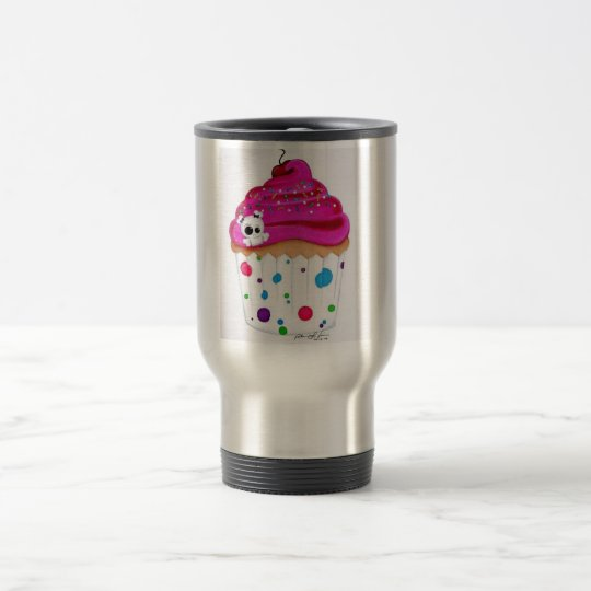 Coffee and a Cupcake Travel Mug