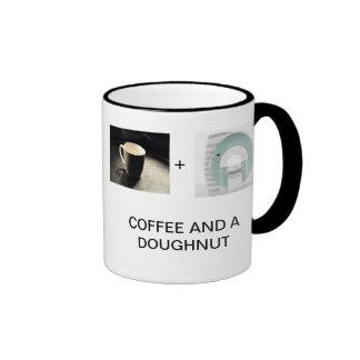 COFFEE AND A DOUGHNUT RINGER MUG