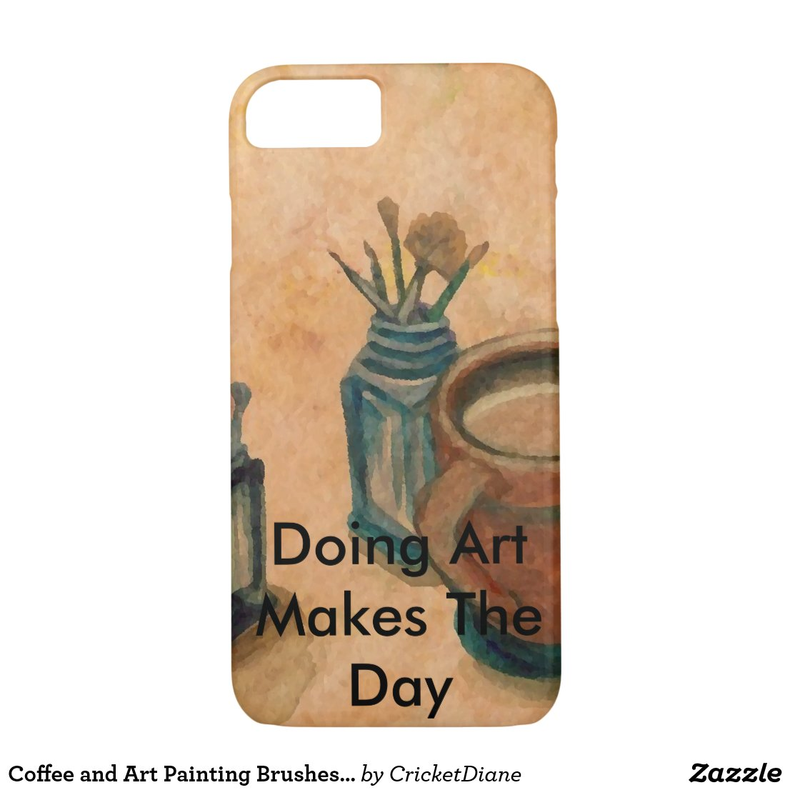 Coffee and Art Painting Brushes Artists Gifts