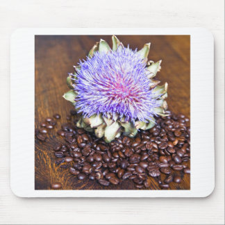 Coffee and artichoke mouse pad