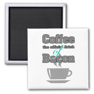 coffee and bacon 2 inch square magnet