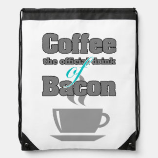 coffee and bacon drawstring backpack