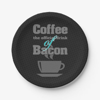 coffee and bacon paper plate