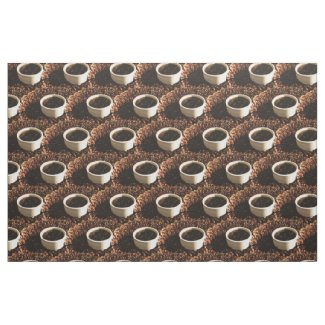 Coffee and Beans Fabric