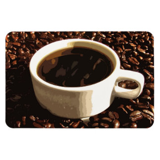 Coffee and Beans Rectangular Photo Magnet