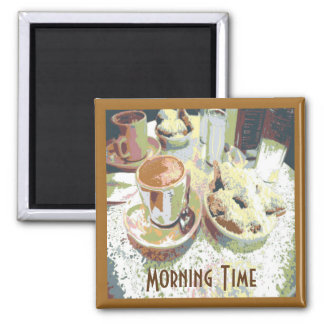 Coffee and Bignets New Orleans Cafe Aulait Donuts Magnet