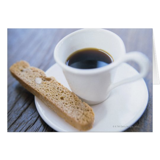 Coffee and Biscotti Card