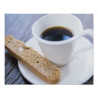 Coffee and Biscotti Poster