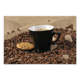 Coffee and biscuit photo print
