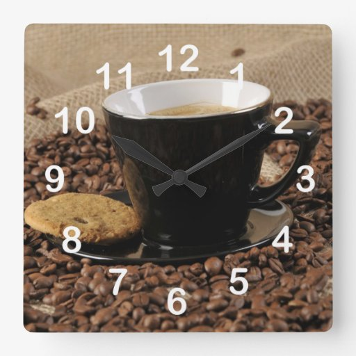 Coffee and biscuit square wallclock