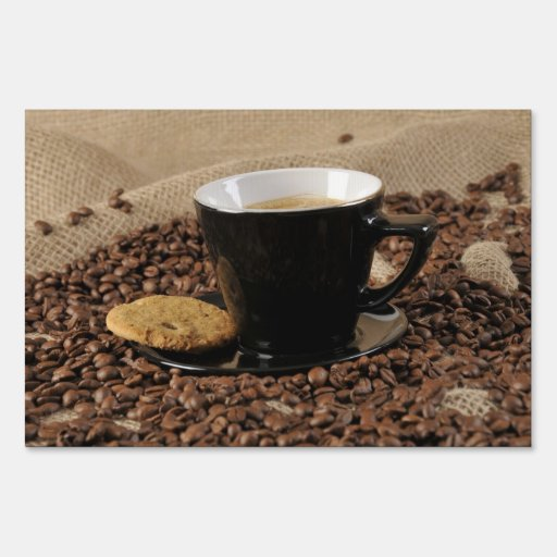 Coffee and biscuit yard sign