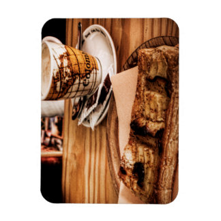 Coffee and cake flexible magnet