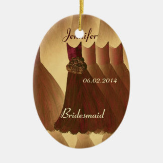 COFFEE and CHOCOLATE  Bridesmaid Thank You Wedding Ceramic Ornament