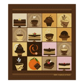Coffee and Chocolate Print print