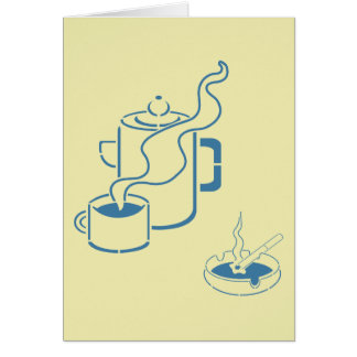 Coffee and Cigarettes Breakfast Card