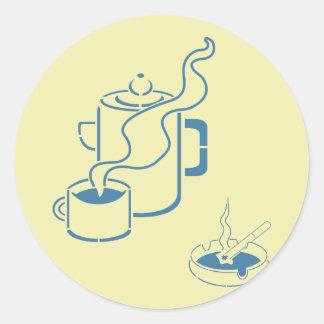 Coffee and Cigarettes Breakfast Classic Round Sticker