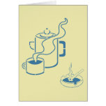 Coffee and Cigarettes Breakfast Greeting Card