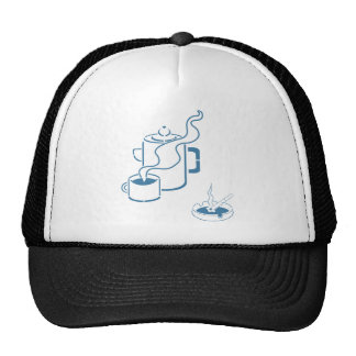 Coffee and Cigarettes Breakfast Mesh Hat