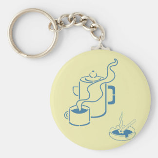 Coffee and Cigarettes Breakfast Keychains