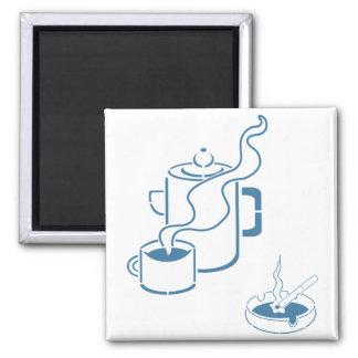 Coffee and Cigarettes Breakfast Fridge Magnet