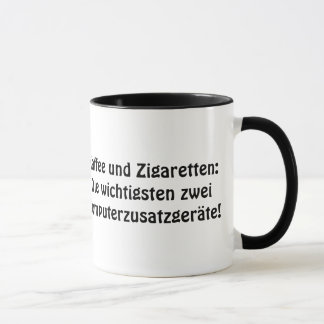 """Coffee and cigarettes: The most important two…. Mug"