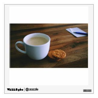 Coffee and cookies on a table wall skin