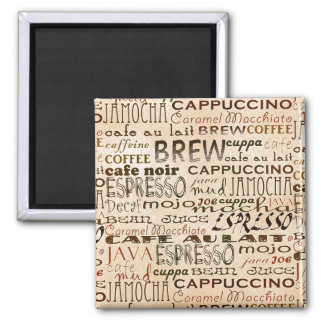 Coffee And Cream 2 Inch Square Magnet