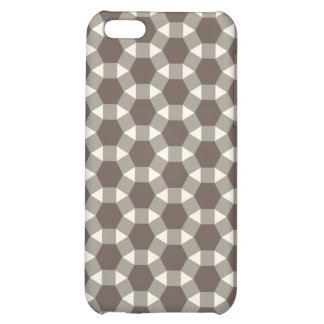 Coffee and Cream Geometric Tessellation Pattern Case For iPhone 5C