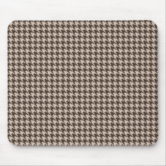 Coffee and Cream Hounds Tooth Mousepad